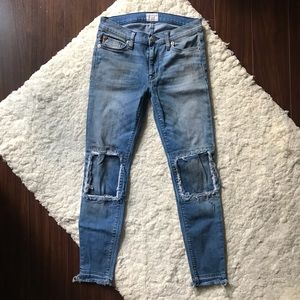 Suzzi Skinny Jeans by Hudson in Distressed Wash